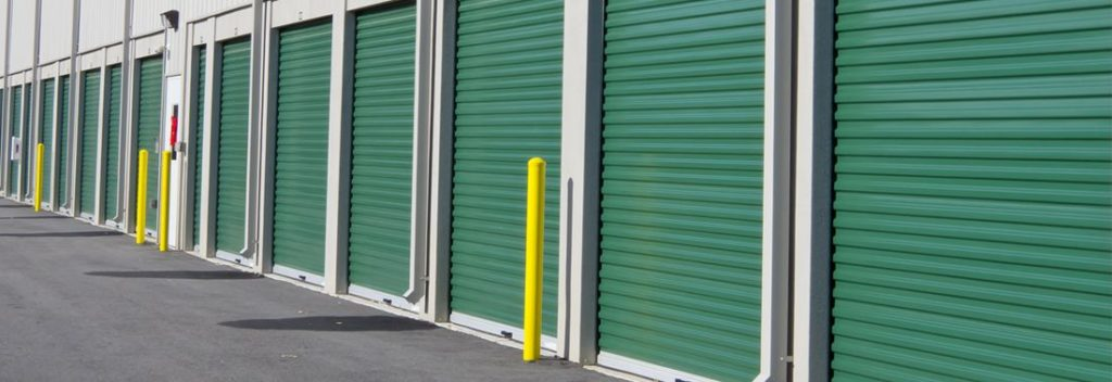 Green Commercial Garage Doors