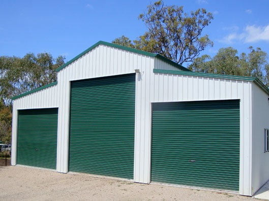 green commercial roller door