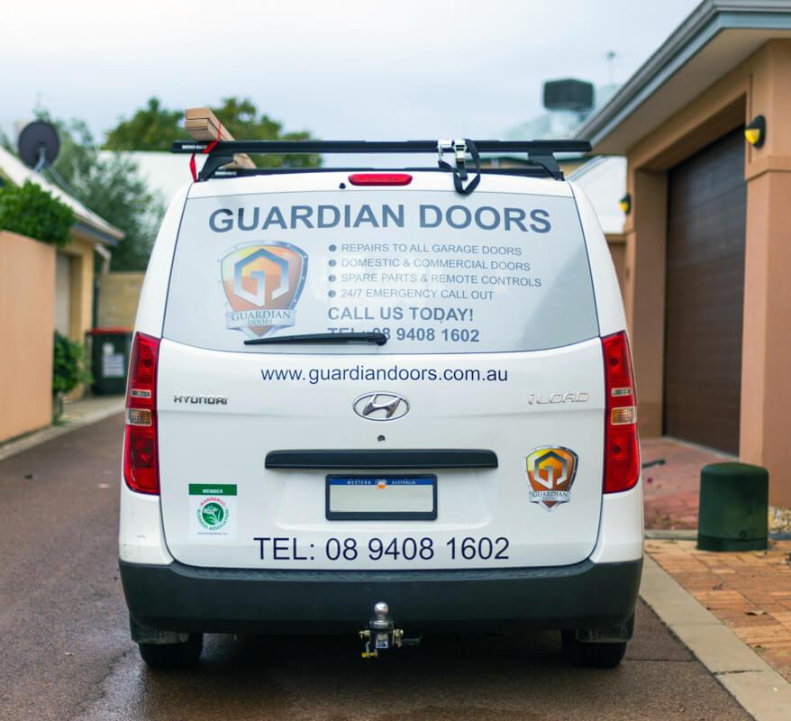 Guardian Doors Servicing Van for Perth Metro Area